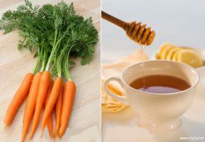 علاج تجاعيد العين بقناع العسل و الجزر