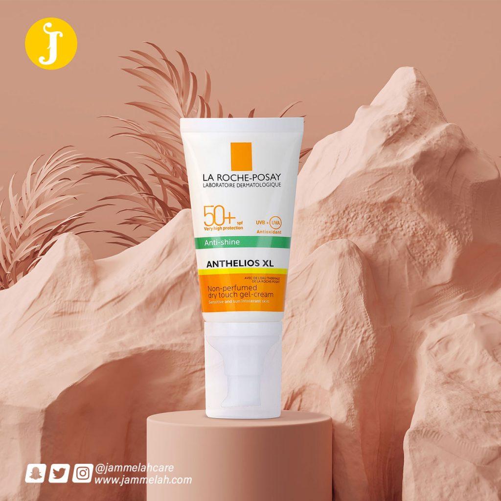 لاروش بوزيه جل واقي شمس للبشرة الدهنية – ريفيو كامل 50+ LA ROCHE-POSAY Anthelios gel-cream